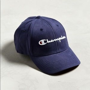 NWT Champion Twill Embroidered Classic Navy Hat